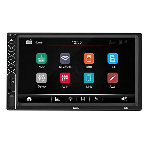 Reproductor de coche 7 pulgadas coche Radio estéreo MP5 reproductor 1+16G Bluetooth GPS pantalla táctil HD NAV FM AUX USB soporte interconexión móvil reproductor de DVD CD