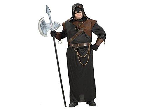 shoperama Herren-Kostüm Vollstrecker Henker Scharfrichter Foltermeister Kerkermeister Halloween, Größe:XL/XXL