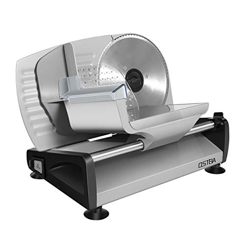 Meat Slicer Electric Deli Food Slicer with Child Lock Protection, Removable 7.5'' Stainless Steel Blade and Food Carriage, Adjustable...