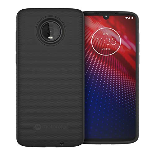 Motorola Moto Z4 Protective Case- Black - Precision fit Shock Absorbing Cases for Enhanced Phone Grip, Style, Drop Protection for Your Device [[Not Moto Mod Compatible]]