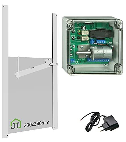 Automatische Hühnerklappe + Steckernetzteil + Klappe mit Selbstverriegelung - Direkt vom Hersteller