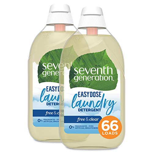 Seventh Generation Laundry Detergent Ultra Concentrated EasyDose Free amp Clear 23 oz 2 Pack 132 Loads Packaging May Vary