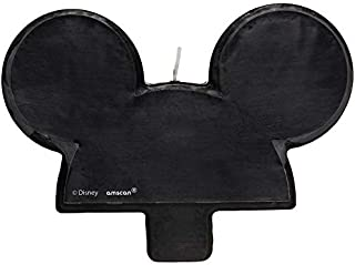 Mickey Mouse Birthday Candle   Black   Decoration   1 Pc.
