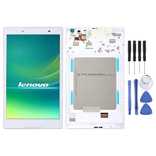 FXH Menos Costo Pantalla LCD y digitalizador Asamblea con Marco Completo for Lenovo Tab 2 A8-50 A8-50F A8-50LC taizhan (Blanco) Pero una solución efectiva (Color : White)