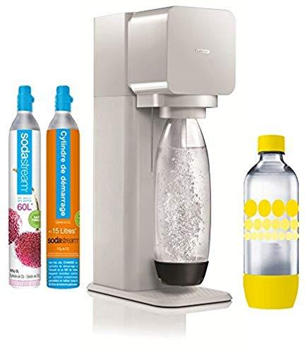 Sodastream Mega Play Grau – Sprudel- und Soda – 2 PET-Flaschen und bis zu 75 l sprudelndes Wasser (2 CO2-Zylinder)