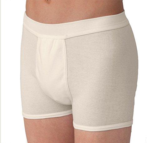 Carevitex Herren Inkontinenz Boxershorts Farbe weiß, waschbar und trocknergeeignet
