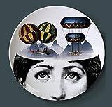 ainiqingjie Platte Hängende Platten Dekorations Porzellan @ Platte Wandverzierung Handwerk Dekoration Keramik Manualidades Platte Porzellan Wandplatten-8_Inch