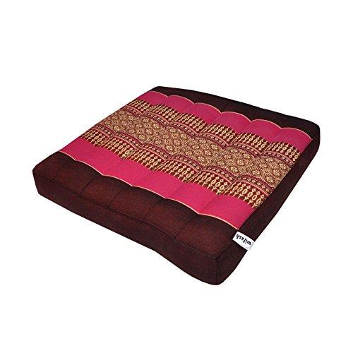 wifash Cojín Llano para Silla butaca sofá (36x36), Fabricado en Tailandia, Bordeaux/Rosa (81421)