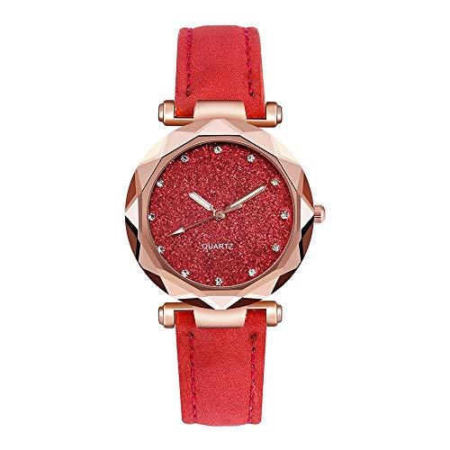 Relojes Para Mujer Reloj de pulsera Pulsera para relojes para mujer Moda Moda Relojes Rhinestone Rose Gold Reloj de cuarzo Reloj de cinturón femenino Relojes Decorativos Casuales Para Niñas Damas