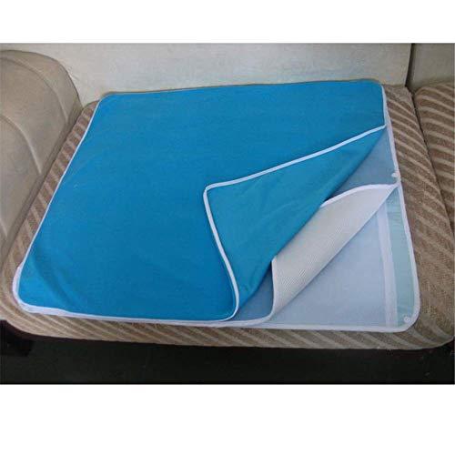 Incontinentieonderlegger voor het bed, zachte absorberende onderlegger, wasbare herbruikbare incontinentieonderlegger urine pad 70 x 80 cm