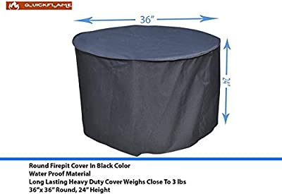 """36"""" Round Cover fits 36 inch,35 inch, 34 inch Round Fire Pit/Tables, for fire Pit Models from Lowe's, Endless Summer and Other Brands"""