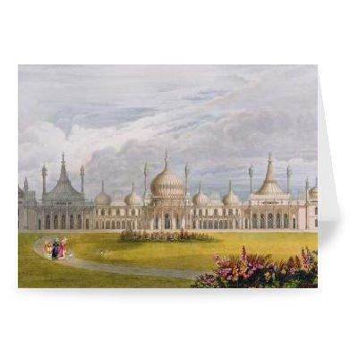 Brighton Royal Pavilion, 19th century (w/c. - Grußkarten (2er Packung) - 17,8x12,7 cm - Standardgröße - Packung mit 2 Karten - Art247