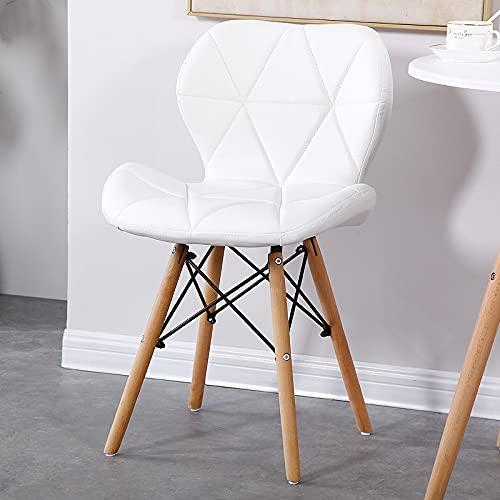 Esszimmerstühle Set von 4 modernen, gepolsterten Küchenstühle mit weichem PU-Leder-Sitz und Holzbeinen, für Wohnzimmer, Esszimmer, Küche, Schlafzimmer
