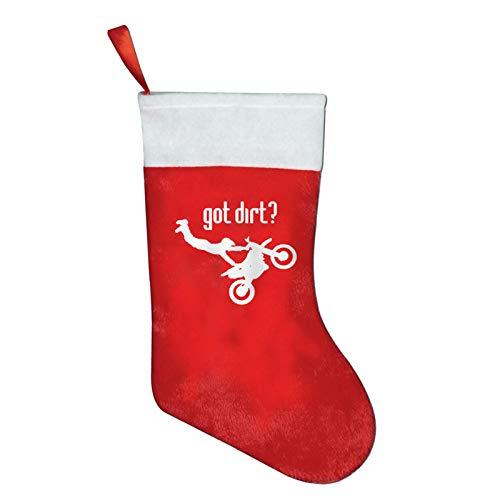 SYDIYIWL Got Dirt Bike Motorcross Racing Weihnachten Süße Strümpfe Santa Socken für Weihnachten Kostüm Dekoration