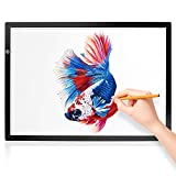 LitEnergy A2 LED Light Box, Light Table 14.9' x 21.8' Visual Work Area Light Pad for Tracing