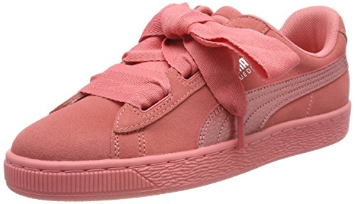 Puma Suede Heart SNK Jr 364918-05, Zapatillas para Niñas, Rosa (Shell Pink-Shell Pink), 37 EU