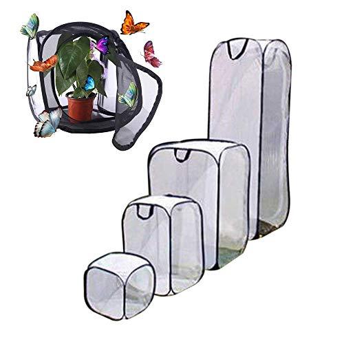 GHTYN Schmetterling KäFig, Faltbares Insektennetz FüR Kinder, Pop-Up Schmetterlinge ZüChten Insekten Aufzucht, Schmetterlingsfarm,Netz SchmetterlingsbeobachtungskäFig,40 * 40 * 60cm / Schwarz