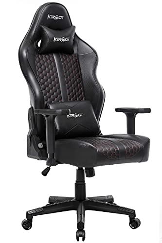 Kirogi Gaming Stuhl Ergonomischer Bürostuhl, Gamer PC Stuhl mit Lendenwirbelstütze,...