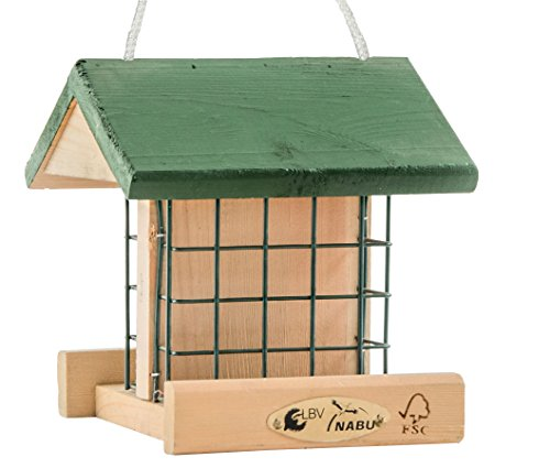 """CJ Wildlife 350540415 Wildvogel-Futterhaus \""""Pasadena\"""" aus FSC-Holz - empfohlen vom NABU und dem LBV"""