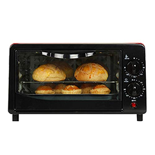 Tongyundacheng Mini-Ofen, Schneller Mini-Ofen, 12 L Mini-Ofen Und Grill, Back- Und Toastofen, Pizzaofen, Mini-Pizzaofen, Abnehmbare Krümelplatte, 0-230 ° C , 60 Min Timer Auto Shut Off, 800 W.