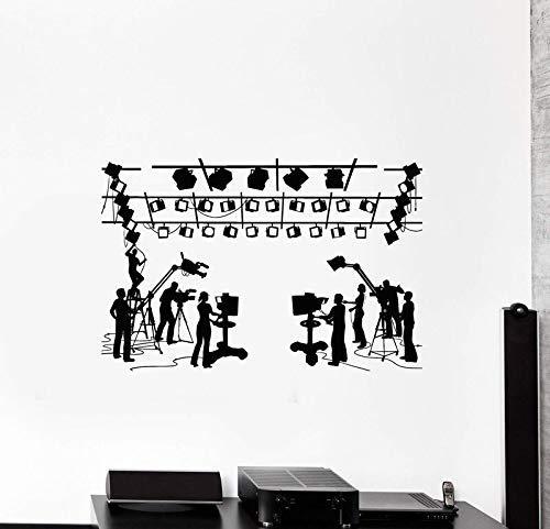 Vinyl Aufkleber Kino Kino Regisseur Schießen Wandaufkleber Filmfirma Wanddekoration Home Wohnzimmer Dekoration 63 X 42Cm