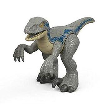 Replacement Figure for Imaginext Jurassic World Dinosaur Hauler - FMX87 ~ Blue Dinosaur Figure