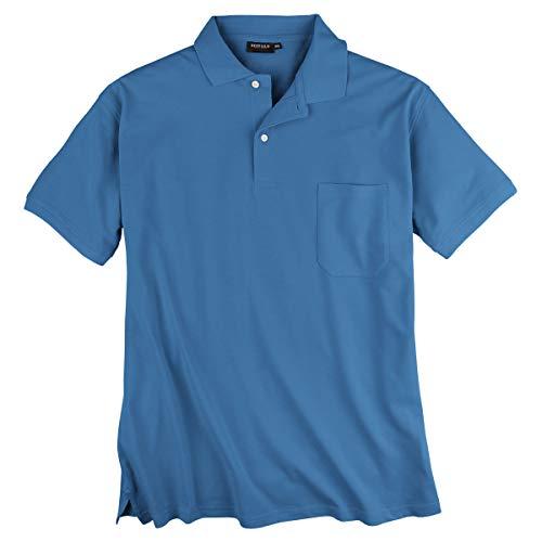 Redfield Piqué Poloshirt Herren Übergröße blau, XL Größe:5XL