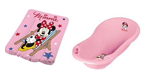 Baignoire bébé + matelas à langer Disney Minnie Mouse Rose