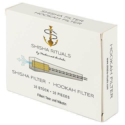 10 Shisha Filter | Shisha-Mundstück mit integriertem Filter aus Balsa-Holz, filtert Teer und Nikotin, natürliches Zubehör für Wasserpfeifen-Set, gesünderes Rauchen, weniger Risiken
