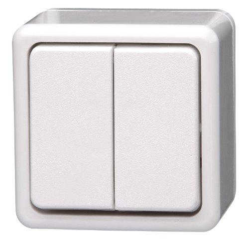Kopp 513502002 Serienschalter Aufputzprogramm-Standard, 10 A, 250 V