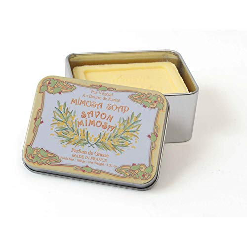 Création LeBlanc - Boite savon en métal mimosa création leblanc
