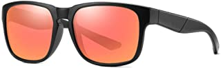 Durable New Trend Glasses Outdoor Riding Polarized Sunglasses Unisex UV400 Matte Black Frame (Color : Red)