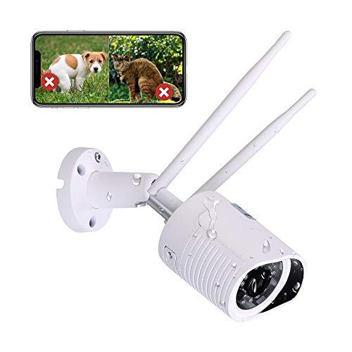 HiKam A7 Überwachungskamera für außen mit Support in Deutschland | Personenerkennung | Alexa kompatibel | Outdoor IP WLAN Kamera Aussen APP | HD WiFi Camera | Datensicherung und Cloud in DE