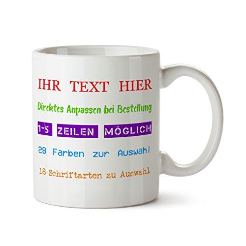 Partycards Personalisierte Tassen als Geschenkidee mit verschiedenen Motiven - Kaffebecher (Ihr Text, 300ml)