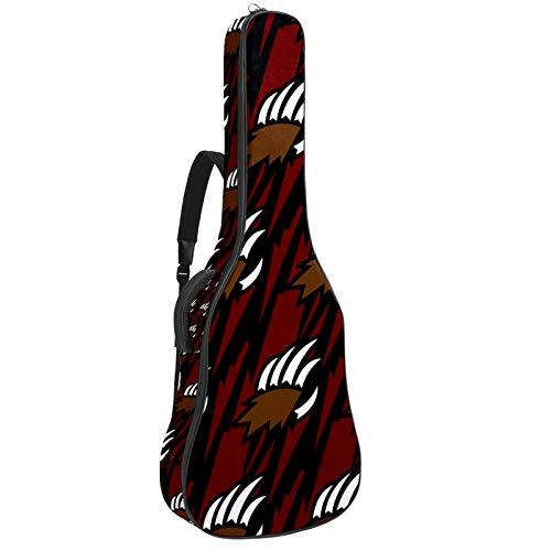 Bolsa para guitarra Grizzly Bear con diseño de garra de animal acolchada para guitarras acústicas, clásicas y eléctricas, tamaño completo