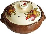 Cazuela Cazuela de cazuela con cazuela de cerámica de Cacahuete, Cubierta de Sopa de Bolsa de rústica, Plato de cazuela de Granja rústica, Cocina de estofado Delicioso ZSMFCD
