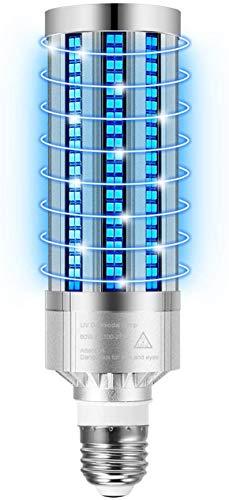 60W LED Lampada UV Germicida, UV-C Lampada Antibatterica Ultravioletta Portatile Disinfettante Leggero, Base E26/E27 (Standard)