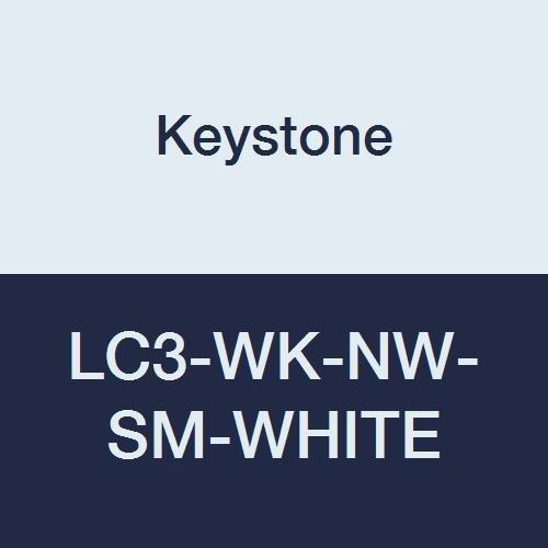 Keystone LC3-WK-NW-SM-WHITE Polypropylene Lab Coat 3 Online limited product Kn unisex Pocket