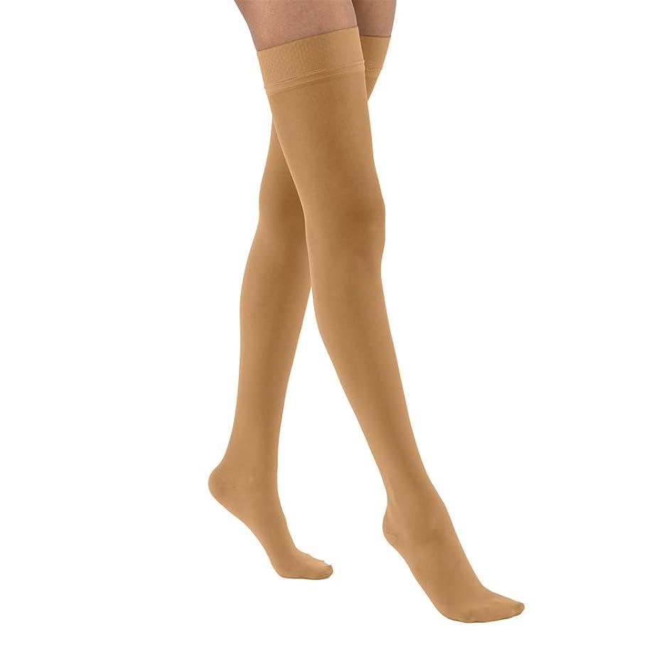 望ましい王女サイズJobst 122320 Ultrasheer Thigh Highs 20-30 mmHg Firm with Silicone Dot Top Band - Size & Color- Suntan Small