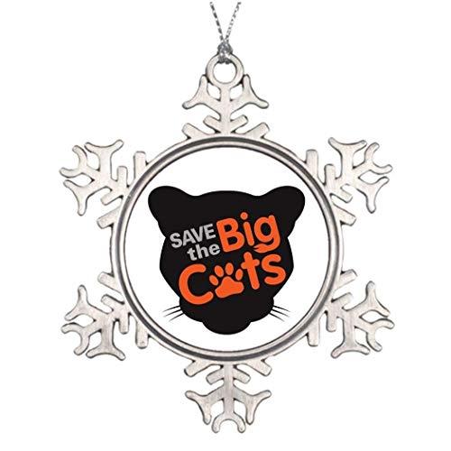 Cukudy Save the Big Cats - Adorno de Navidad para mujer, hombre, esposo, esposa, amigos, Gils y niños