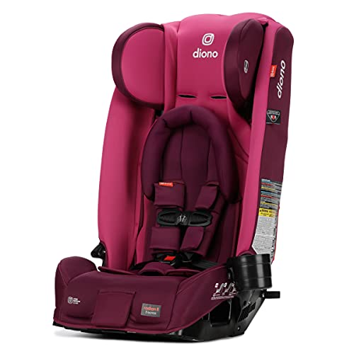 DiONO Radian 3RX 3-in-1 Rear and Forward Facing Convertible Car Seat, Infant Head Support Insert, 10 Years 1 Car Seat Ultimate Safety and Protection, Slim Fit Design, Fits 3 Across, Pink Blossom