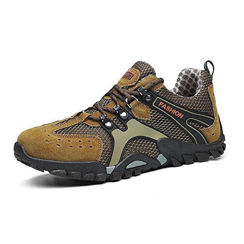 Aerlan Walking Shoes,Zapatos de montañismo Zapatos de Hombre Senderismo, Zapatos Deportivos de Viaje al Aire Libre-Card_46,Zapatos con Cordones para Hombres y Mujeres