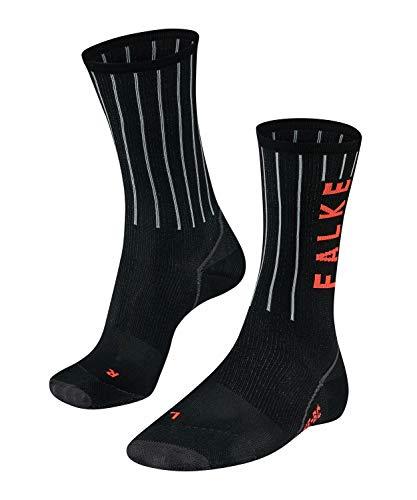 FALKE Herren BC Impulse Stripe Biking Socken, Black, 44-45