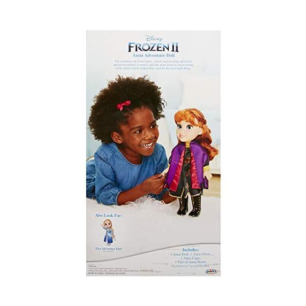 Anna con Vestido de Viaje, Frozen II, muñeca Grande 38 cm