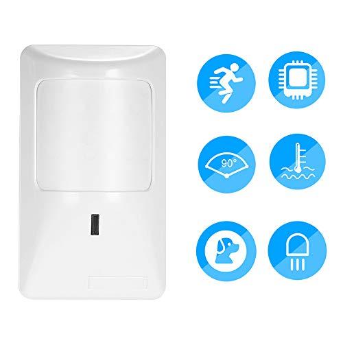 OWSOO Sensor de Movimiento PIR Detector Infrarrojo Dual Anti-Pet Alarma Sirena para Sistema de Antirrobo en Hogar