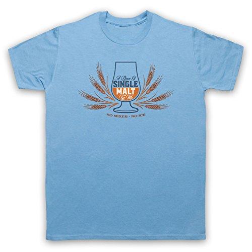 A Dram of Single Malt for Me No Mixer No Ice Herren T-Shirt, Hellblau, 2XL