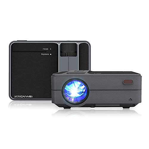 2020 Upgrade 3800 Lumen LED WiFi Projector, Full HD 1080P Supported Mini Projector, [Native 720P] Compatible with Smartphones, PS4, TV Box, TV Stick, HDMI, USB, AV for Home Outdoor Entertainment
