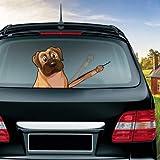 ACEACE Kühl Neue Nette Karikatur-Hundeaufkleber Funny bewegen Paw Fensterwischer-Aufkleber und Abziehbilder for Auto-Styling Heckscheibe Schmuck (Color Name : Style 12)