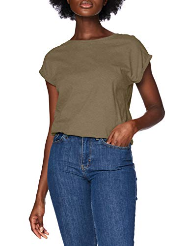 Urban Classics Damen Ladies Extended Shoulder Tee T-Shirt, olive, S
