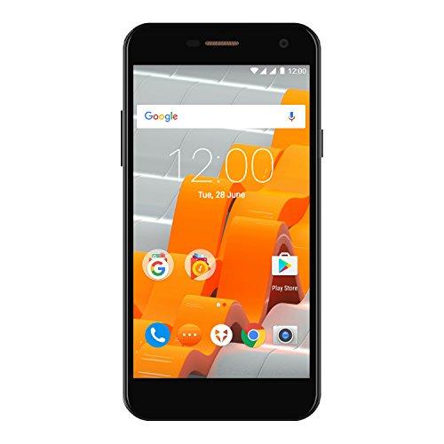 Wileyfox Spark - 5-Zoll-HD Display SIM freies Smartphone (Dual-SIM-Funktionalität 4G) mit 8-MP Kameras Android Nougat 7.0 (demnächst). - Schwarz